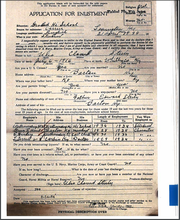 Ulis Steely's application for enlistment in the U.S. Navy