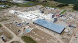 The 375,000-square-foot Glanbia facility where 8 million pounds a milk a day will be processed into cheese and whey is already standing in St. Johns.