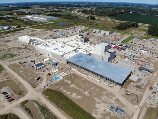 Photo of the Glanbia Foods cheese plant under construction in St. Johns Saturday, Sept. 14, 2019.
