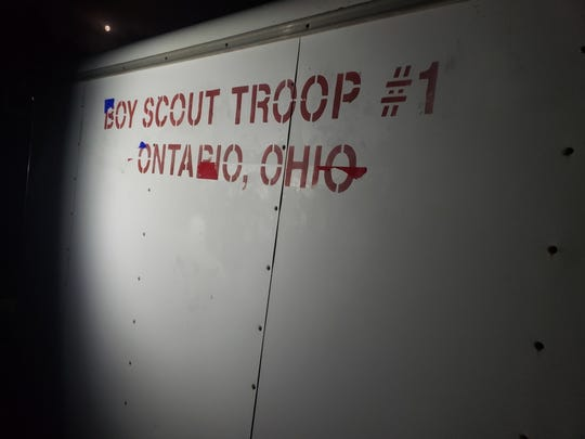 Suspects who stole the Boy Scout Troop 170 trailer in Ontario had grinded off the 70 from Troop #170.
