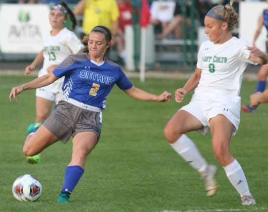 Ontario's Alaina Reed scored five goals in a 7-0 win over Lima Shawnee last week for an incredible individual performance.