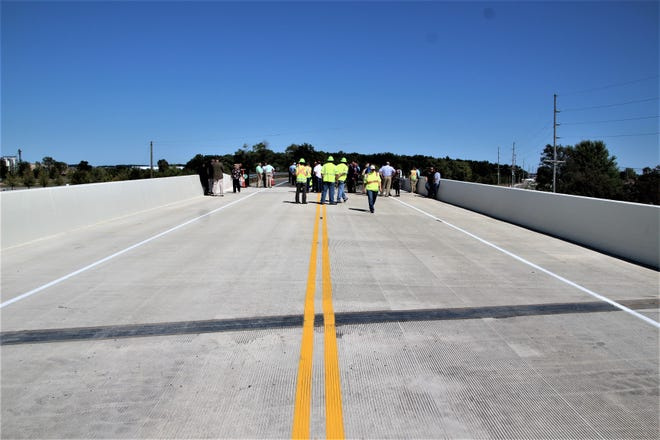 The Ohio 309 overpass just east of Pole Lane Road in Marion County will be open to motorists on Thursday. State and local officials and area residents attended a dedication ceremony Wednesday conducted by the Ohio Department of Transportation. The overpass eliminates the railroad crossing at the location.
