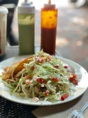 Maciel's Taco Shop's famous fried tacos.