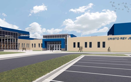 Cristo Rey Jesuit High School broke ground Wednesday on a $33 million new school at 1818 W. National Ave. It is expected to be open for the start of the 2020 school year.