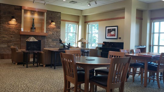 Stop by the newly arranged Hearthside at the Baxter County Library, perfect for reading, relaxingand puzzles.