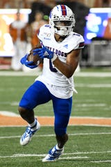 Aug 31, 2019; Austin, TX, USA; Louisiana Tech Bulldogs wide receiver Adrian Hardy (6) runs for yardage after making a reception in the second half against the Texas Longhorns at Darrell K Royal-Texas Memorial Stadium. Mandatory Credit: Scott Wachter-USA TODAY Sports