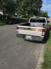 A silver Nissan pickup truck was stolen near Ellington Drive shortly after Jessica Osborne escaped authorities Tuesday. She might be driving the truck. The license tag number is U5106G. Call 911 if truck is spotted.