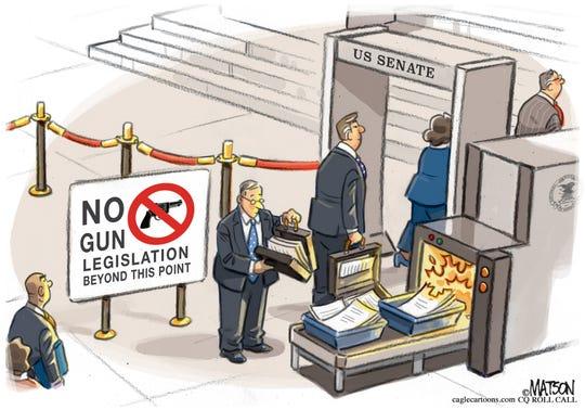 Senate burns gun control bills.