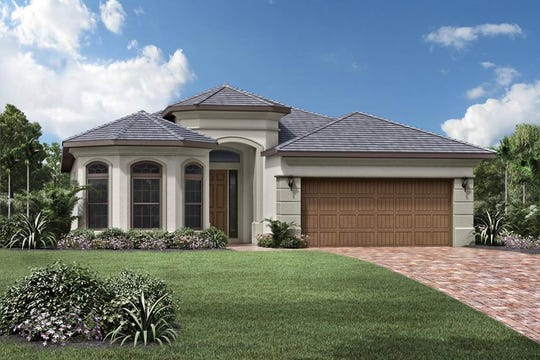 Palazzo at Naples is offering a move-in ready, one-story, 2,237 square-foot Massiano Versailles featuring four bedrooms, two and one-half bathrooms, and a two-car garage.