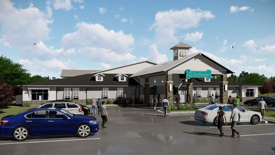 A rendering of Pet Paradise, the pet resort planned on U.S. 41 and Commerce Drive in Bonita Springs.