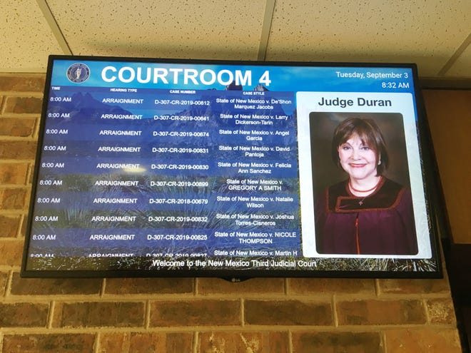 Flatscreen monitors installed in Third Judicial District Court make access easier for court litigants.