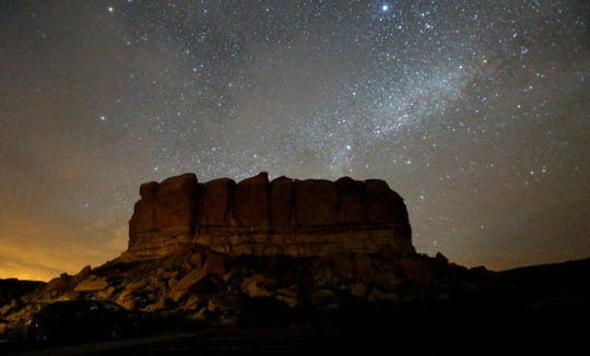 Stars illuminate the sky June 24, 2016, at Chaco Culture National Historic Park.
