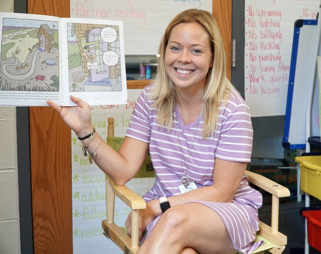 South Lyon Brummer Elementary School teacher Keri Monstrola before the COVID-19 pandemic. She will not be returning to in-person teaching for the 2020-21 school year until near the end of September.