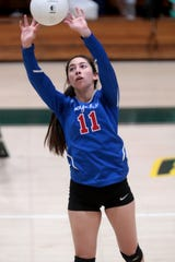 Indio's Melanie Perez sets the ball during the match against Coachella Valley in Thermal on Tuesday, September 17, 2019.