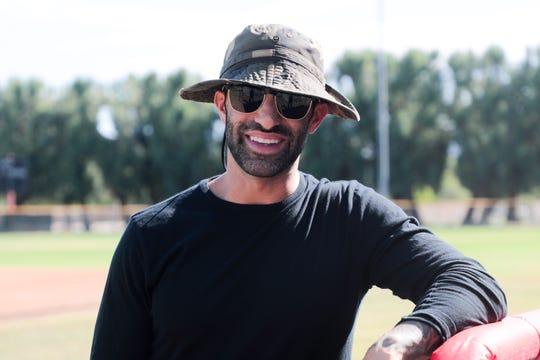 Sam DiMatteo, head baseball coach at College of the Desert, stands on the team's baseball field on Monday, September 16, 2019 in Palm Desert, Calif.