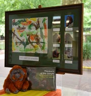 """""""The Spirit of Sumatra"""" is an art piece painted by the six orangutans living at Gulf Breeze Zoo and will be raffled off as part of a conservation effort to help save the endangered orangutans of northern Sumatra."""