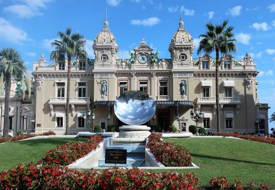 The grand Casino de Monte Carlo, where two James Bond movies were filmed.