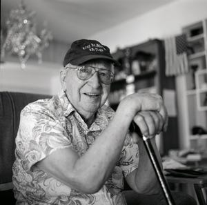 Lauren Bruner was one of six sailors who escaped from the USS Arizona by climbing hand over hand across a hemp rope that had been thrown over from the repair ship Vestal. He suffered serious burns but recovered and continued to serve through World War II.
