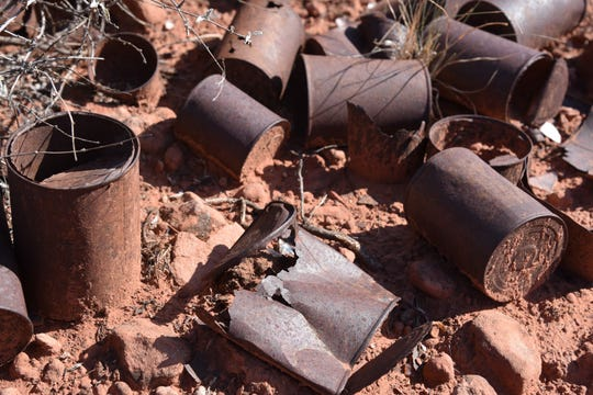 These rusted cans aren't trash. They are historic artifacts on the Roundabout Trail in Sedona.