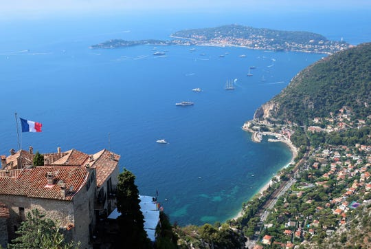 The view of Cap Ferrat from Eze, France, just outside of Monaco.