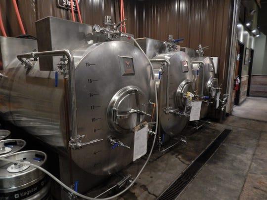 Lagering tanks at Arizona Wilderness Brewing Co. in Gilbert.