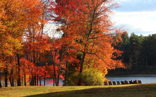 Spectacular fall colors are showcased at Innisfree Garden in Millbrook.