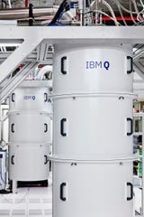 IBM Q systems like these, pictured at IBM's Yorktown campus, are featured at the company's Quantum Computation Center in Poughkeepsie.