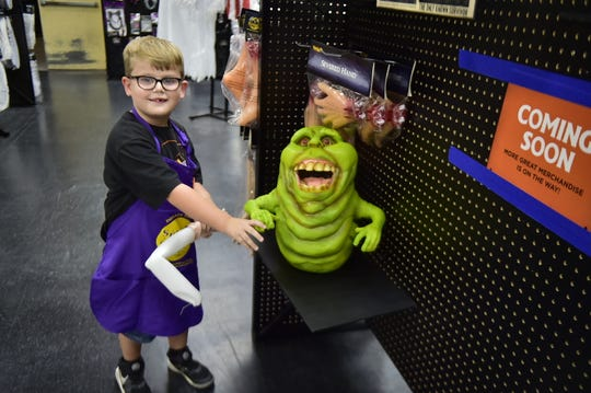 Declan McMullen, 6, loves everything that has to do with Halloween. His favorite store, Spirit Halloween, invited him in as an honorary employee to build some of the spookiest decorations - animatronics.