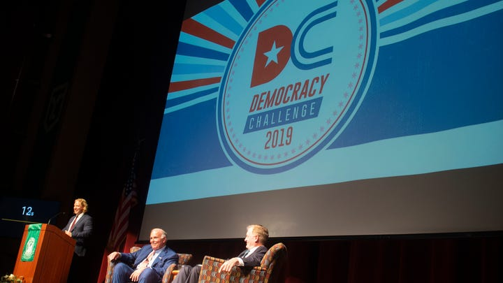 Former Pa. Governors visit York College in hopes of reigniting a common sense for democracy