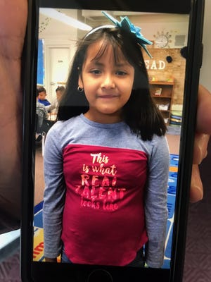 A photo taken on Wednesday, Sept. 18 of Carolina Salas-Lopez, 6 or 7, who went missing today from Echo Loder Elementary School.