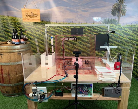 KPS3, a Reno digital marketing and public relations firm, absorbed about $200,000 in staff time over a year to create the Santa Maria Valley Swirl Machine to promote California's Santa Maria wine region.
