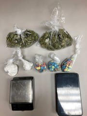 A traffic stop on U.S. Highway 87 resulted in Tom Green County Sheriff's deputies finding marijuana, cocaine, ecstasy and other drug paraphernalia.