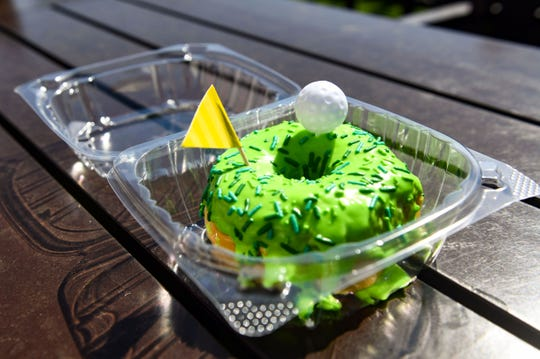 "Flyboy Donuts is selling the ""hole in one"" donut at the Sanford International tournament."