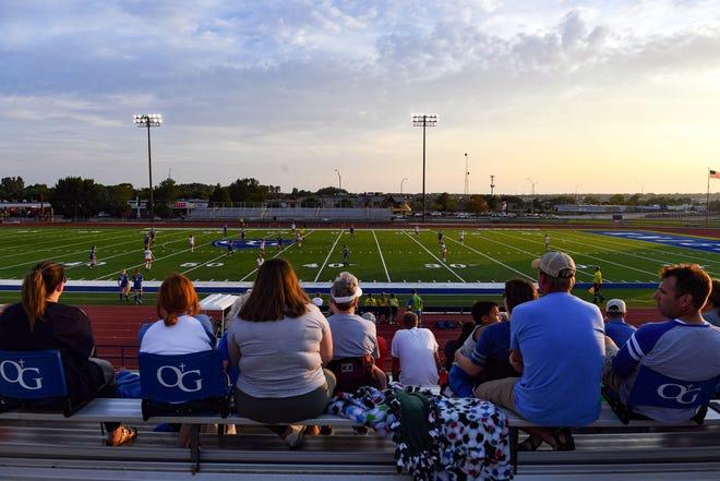 Washington High School plays O'Gorman High School in a soccer match Tuesday, September 17, at O'Gorman.