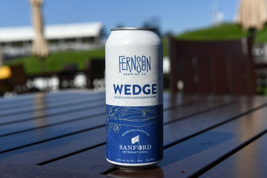 "Fernson Brewery made a unique beer for the Sanford International golf tournament. This ""kolsch with lemondrop hops"" is called The Wedge."