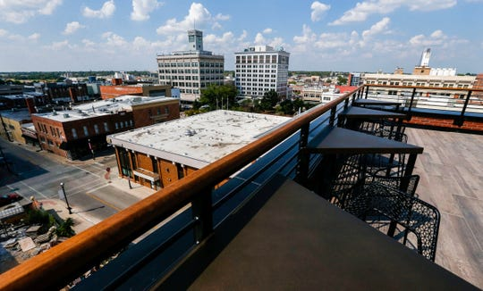 Vantage Rooftop Lounge and Conservatory on top of V2, the four-story expansion to Hotel Vandivort, on Wednesday, Sept. 18, 2019.