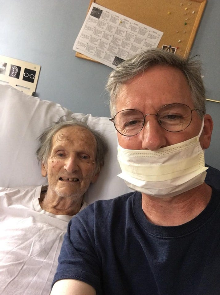 The reporter with his father, Walter Schwaner, Jr. in July 2019.