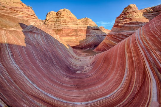 The Wave is a popular 6-mile roundtrip hike.