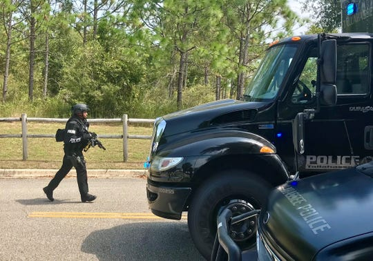 A Tallahassee Police Department officer was among numerous officers called out to a standoff on Little John Road on Sept. 18, 2019.