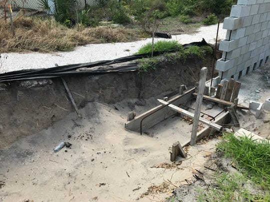 Construction workers digging a dividing wall in June found skeletal remains at this location at Blue at 8050 Ocean in Indian River Shores.