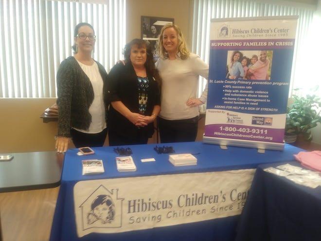 Behavior Basics President Karin Torsiello, left, with Jackie Lindgren and Caroline Vinyard, both of Hibiscus Children's Center. Lindgren is a family advocate and Vinyard is chief operating officer.