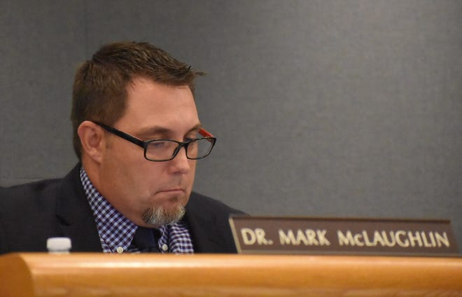 "Mark McLaughlin, superintendent of the Conejo Valley Unified School District, defended the district's policy in dealing with censure requests from the community. He also called the surge of censure discussions ""embarrassing."""