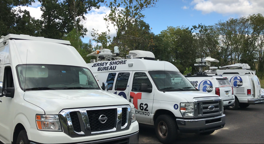 A City of Bridgeton parking lot off Mayor Aitken Drive filled with 10 television news van, and one private search and rescue unit, Wednesday afternoon in hopes of something happening in the Dulce Alavez missing person case.