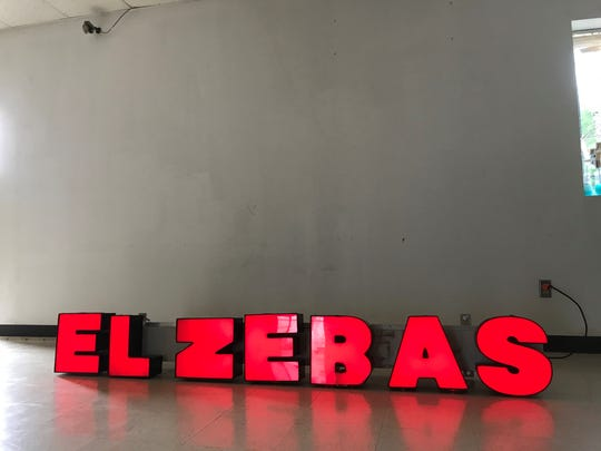 The sign for Taqueria El Zebas will go on the front door outside before the grand opening on Saturday, Sept. 21, 2019.