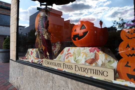Notices from the city of Wilmington and the Department of Health and Human Services say the Govatos Chocolates building at 800 N. Market Street must be closed and vacated Wednesday. The store is decorated for the Halloween and fall season.