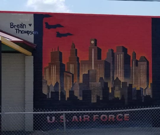 The U.S. Air Force is paid homage to in this section of the mural by local artist Brea'n Thompson at The Deli Planet & Drinkery.