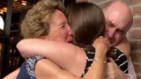 Hannah flew all the way from Australia to surprise her dad for his retirement. She had something in store that neither of her parents saw coming.