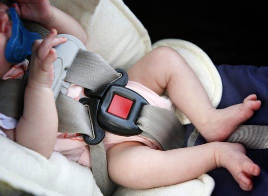 Caregivers should ensure that the angle of the car seat is set up appropriately for the position of the seat. A car seat should indicate the correct angle on the side.