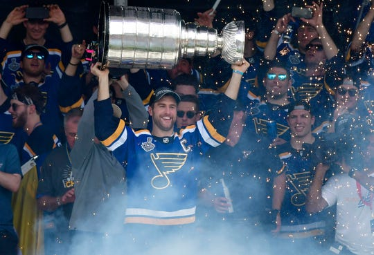The St. Louis Blues won the Stanley Cup last season for the first time in franchise history.