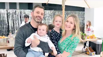 """Jimmy Kimmel's son is """"doing great"""" after undergoing heart surgery in 2017, as the talk show host says the tot now believes he's Spider-Man."""